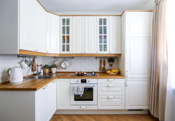 Скандинавская кухня с МДФ фасадами